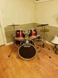 red and black mapex drum set. Willing to trade  East Gwillimbury, L9N 1J2