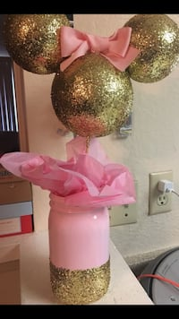 Pink & Gold Minnie Mouse Centerpieces La Puente