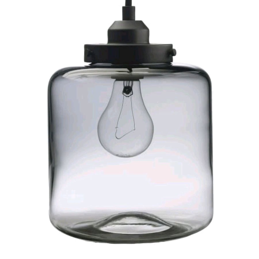 West Elm Glass Jar Pendant Light