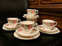 Vintage Colclough pink rose bone china tea set Vancouver, V5R 6E7