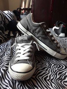 gray-and-white Converse All Star low