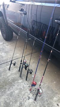 assorted  lite weight  fishing poles Townsend, 19734