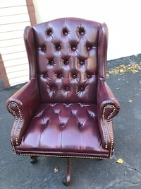 brown leather tufted sofa chair Freehold, 07728