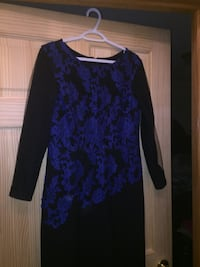 women's blue and black long-sleeved dress Edmonton, T6V 1P3