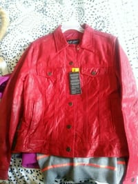 red leather zip-up jacket Camden, 13316