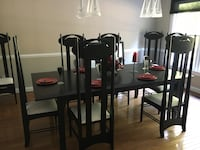 brown wooden dining table with chairs Media, 19063