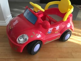 Red ride-on toy car