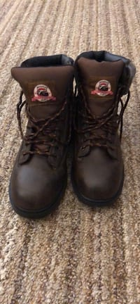 Brand new, never worn Pair of black leather work boots Size 12 Covington, 41011