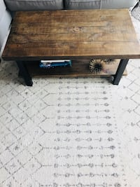 rectangular brown wooden coffee table Chicago, 60605