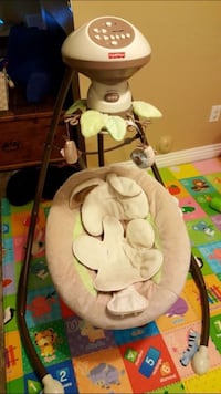 Fisher-Price Baby Swing & Cradle - Soft Bunny