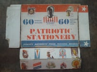 Patriotic Stationery, Military Collectible New London