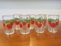 Vintage tomato glasses Washington