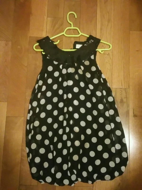 Polkadot balloon dress.