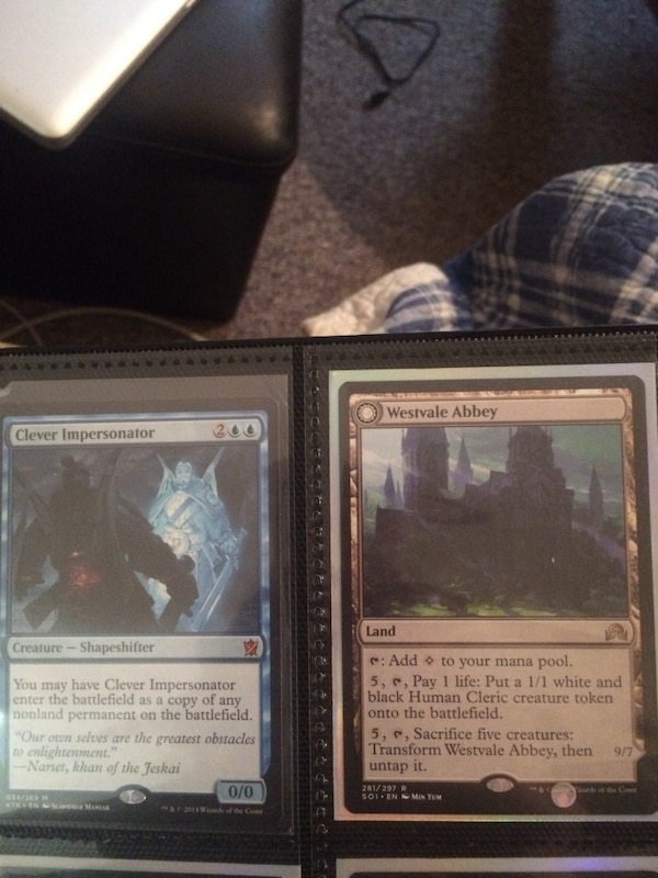 2 magic the gathering cards
