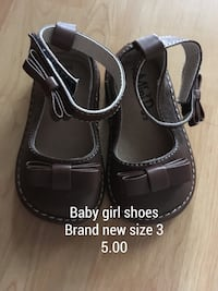 baby girl shoes brand new size 3 Canmore, T1W