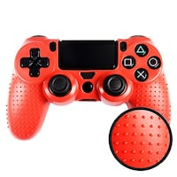 RED Silicon PS4 Skin PAPATOETOE