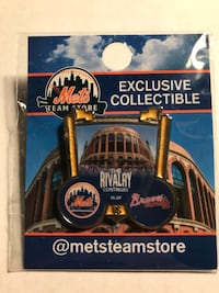 New York Mets Pins  Same pins as sold in CitiField for $9.99. Brand new in the package, never opened. Some I have more than 1. Specify which pin you are interested in.  New York, 10306