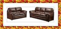 Burgundy Sofa and Love Seat bonded leather BRAND NEW!!! $605 Hyattsville
