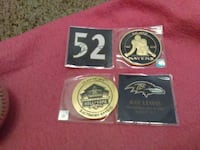 Commemorative ray lewis collector coins 75 km
