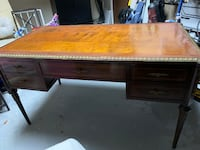 Antique 19th Century French Provincial Walnut Desk with inlaid and bronze TORONTO