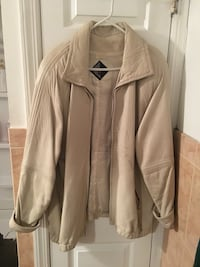 Women's white leather coat Reston