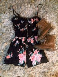 black and pink floral sleeveless dress Fresno, 93705