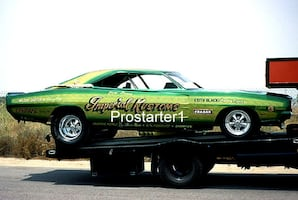 4x6 Color Drag Racing Photo Steve Bovan IMPERIAL KUSTOMS 1969 Charger Funny Car