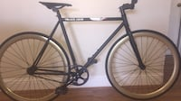 Black and gold fixie
