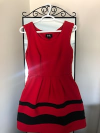 By&By Red & Black GIRLS Dress Markham, L3R