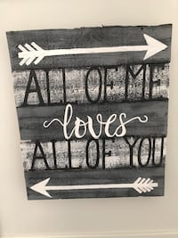 black and white wooden wall decor Stirling-Rawdon, K0K