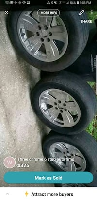 Four 20 inch 6 lug chevy/Ford wheels and tires Valrico, 33596