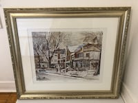 Toronto Rosedale ORIGINAL Art - pewter custom wood frame - value of $260 - 22.5 x 26 inches Toronto, M2J 1Z1