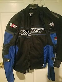 Black and Blue Racing Jacket Springfield, 22153
