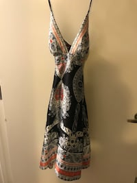 women's gray and brown floral sleeveless dress Los Angeles, 91303