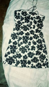 white and black floral sleeveless dress Toronto, M2J 2C2