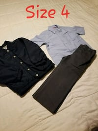 toddler's size 4 two gray and black dress shirts and one black dress pants Fort Worth, 76103