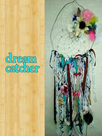 teal, black, and red lace dream catcher Rock Spring