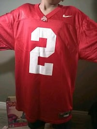 white and red Nike 2 jersey shirt