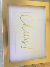 "Gold ""cheers"" frame  Hinckley, 44233"