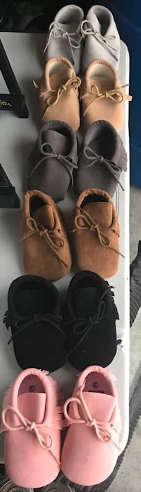 Baby moccasins- never worn Calgary, T3H 0L4