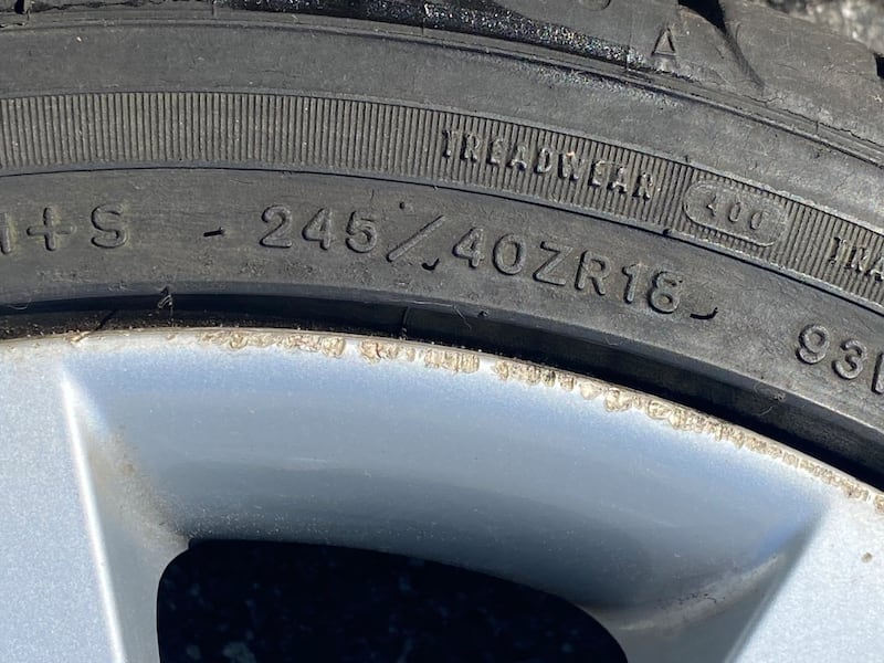 Spare BMW tire with rim 18 inches willing to sell or trade rim 17 050f4334-369a-450e-860a-b03eec3fc04e