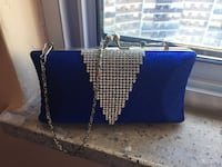 Blue and crystal bag