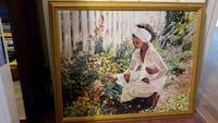 Lady in Flower Garden  Clinton, 20735