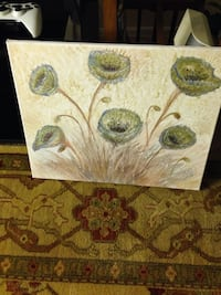 Flower painting wall decor 16x20