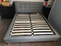 Queen size upholstered bed frame with slots. Brand new and beautiful   Pembroke Pines, 33028