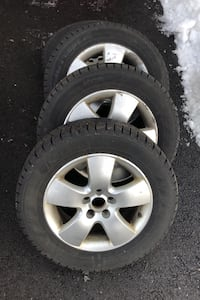 Winter tires complete with rims