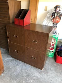Brown wooden cabinet with drawer Newburgh, 12550