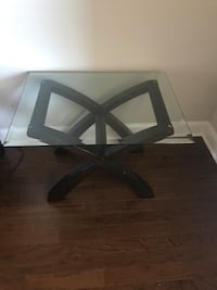 Glass end tables (2), coffee table and console table (not pictured) Harvest, 35749