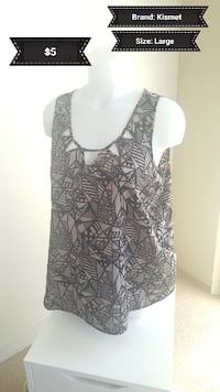 women's gray and black sleeveless top Calgary