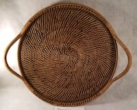 """Pampered Chef 17"""" Woven Round Tray  Inwood, 25428"""
